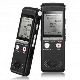 Perekam Suara HD Microphone Digital Voice Recorder 8GB - N131 - Black