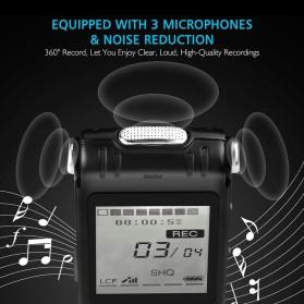 Perekam Suara HD Microphone Digital Voice Recorder 8GB - N131 - Black - 2