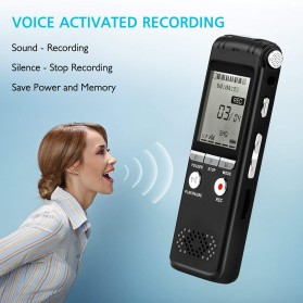 Perekam Suara HD Microphone Digital Voice Recorder 8GB - N131 - Black - 3