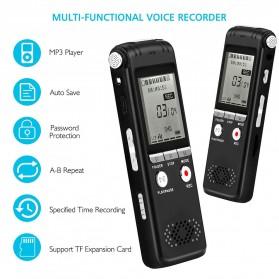 Perekam Suara HD Microphone Digital Voice Recorder 8GB - N131 - Black - 4