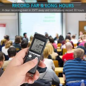 Perekam Suara HD Microphone Digital Voice Recorder 8GB - N131 - Black - 5