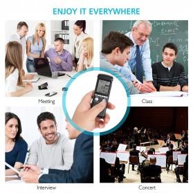 Perekam Suara HD Microphone Digital Voice Recorder 8GB - N131 - Black - 7