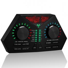 Shijiechuanmei USB Sound Card Amplifier Live Karaoke Recording Special Effect - Max-730 - Black