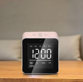 Jam Alarm Mini Clock with Bluetooth Speaker TF Card - V9 - Gray - 2