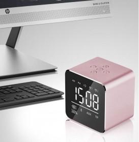 Jam Alarm Mini Clock with Bluetooth Speaker TF Card - V9 - Gray - 3