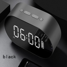 Jam Alarm Clock with Bluetooth Speaker TF Card - P1 - Black
