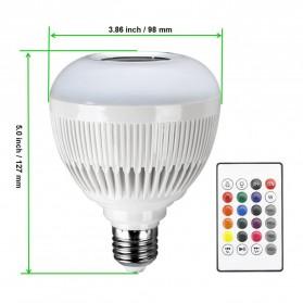 Bohlam LED RGB E27 12W with Bluetooth Speaker - WJ-L2 - White - 2