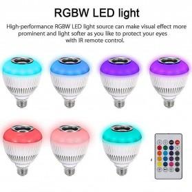 Bohlam LED RGB E27 12W with Bluetooth Speaker - WJ-L2 - White - 5