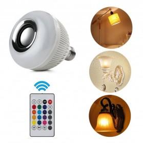 Bohlam LED RGB E27 12W with Bluetooth Speaker - WJ-L2 - White - 8