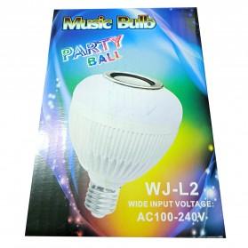 Bohlam LED RGB E27 6W with Bluetooth Speaker - WJ-L2 - White - 10