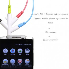 Splitter Jack Audio AUX 3.5mm 4 Port - H401 - Black - 5