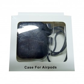Silicone Case for AirPods 1 & 2 Charging Dock with Carabiner - P35 - Black - 10