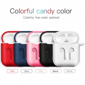 Silicone Case for AirPods 1 & 2 Charging Dock with Carabiner - P35 - Black - 2