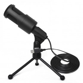Portable Microphone USB with Stand - SF-960B - Black - 1