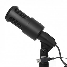 Portable Microphone USB with Stand - SF-960B - Black - 4