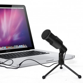 Portable Microphone USB with Stand - SF-960B - Black - 5