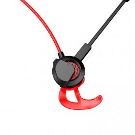 Gaming Earphone HiFi dengan Detachable Mic - G1 - Black - 4