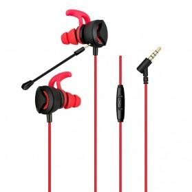 Gaming Earphone HiFi dengan Detachable Mic - G1 - Black - 6