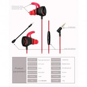 Gaming Earphone HiFi dengan Detachable Mic - G1 - Black - 9