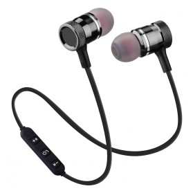 Earphone Bluetooth Sport Magnet dengan Mic - LY11 - Black