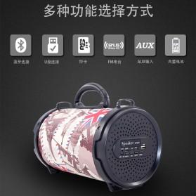 Barrel Wireless Bluetooth Speaker FM Radio - D-B28 - Red - 4