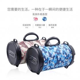 Barrel Wireless Bluetooth Speaker FM Radio - D-B28 - Red - 5