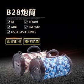 Barrel Wireless Bluetooth Speaker FM Radio - D-B28 - Red - 6