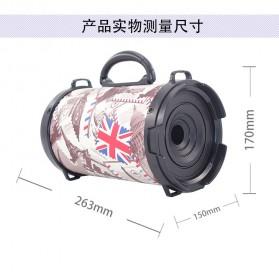 Barrel Wireless Bluetooth Speaker FM Radio - D-B28 - Red - 9