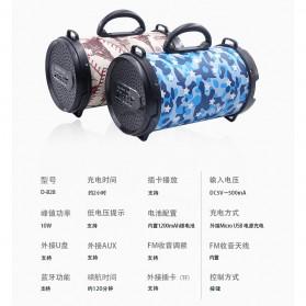 Barrel Wireless Bluetooth Speaker FM Radio - D-B28 - Red - 10