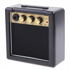 Amplifier Mini Gitar Elektrik Volume Tone Control 5W - PG-5 - Black