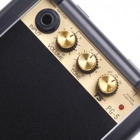Amplifier Mini Gitar Elektrik Volume Tone Control 5W - PG-5 - Black - 5