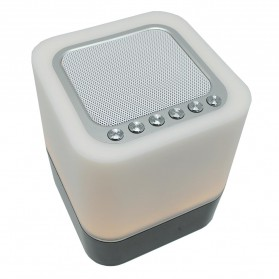 Jam Alarm Mini Clock Bluetooth Speaker dengan Lampu Tidur Colorful - XGS001 - White - 2