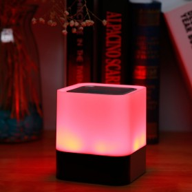 Jam Alarm Mini Clock Bluetooth Speaker dengan Lampu Tidur Colorful - XGS001 - White - 8