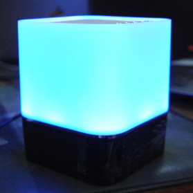 Jam Alarm Mini Clock Bluetooth Speaker dengan Lampu Tidur Colorful - XGS001 - White - 14