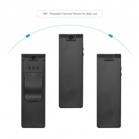 Mini Digital HD Camera Voice Recorder Rotatable Lens 8GB 1080P - E13 - Black - 2