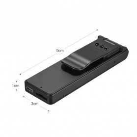 Mini Digital HD Camera Voice Recorder Rotatable Lens 8GB 1080P - E13 - Black - 4