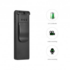 Mini Digital HD Camera Voice Recorder Rotatable Lens 8GB 1080P - E13 - Black - 5