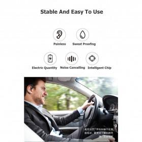 Wireless Auricular Headset Bluetooth V4.1 dengan Mic - Y-12 - Black - 4