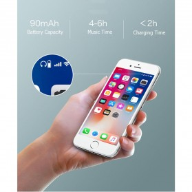 Wireless Auricular Headset Bluetooth V4.1 dengan Mic - Y-12 - Black - 5