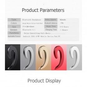 Wireless Auricular Headset Bluetooth V4.1 dengan Mic - Y-12 - Black - 7
