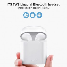 OAICIA Mini Earphone Airpods TWS Bluetooth 5.0 with Charging Case - i7S - White - 7