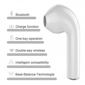 OAICIA Mini Earphone Airpods TWS Bluetooth 5.0 with Charging Case - i7S - White - 9