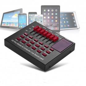 TaffSTUDIO Bluetooth Audio USB External Soundcard Live Broadcast Microphone Headset - V8 Plus - Black/Black - 2