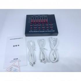 TaffSTUDIO Bluetooth Audio USB External Soundcard Live Broadcast Microphone Headset - V8 Plus - Black/Black - 5
