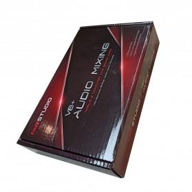 TaffSTUDIO Bluetooth Audio USB External Soundcard Live Broadcast Microphone Headset - V8 Plus - Black/Black - 7
