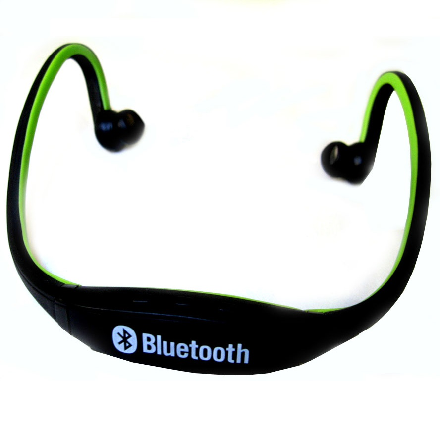 sports wireless bluetooth headset bth 404 black green. Black Bedroom Furniture Sets. Home Design Ideas