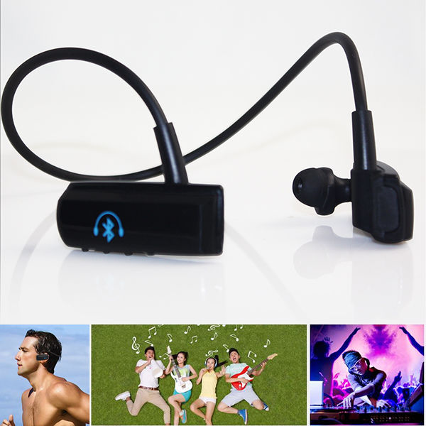 Bluetooth Stereo Headset with Built-in Microphone - BT-252 - Black - 2