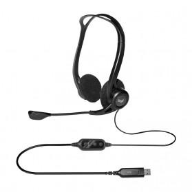 Logitech Stereo Headset - H370 - Black - 3