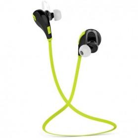 QCY Bluetooth Earphone Olahraga dengan Mic - QY7 (ORIGINAL) - Green - 2