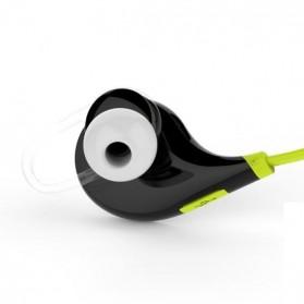 QCY Bluetooth Earphone Olahraga dengan Mic - QY7 (ORIGINAL) - Green - 3